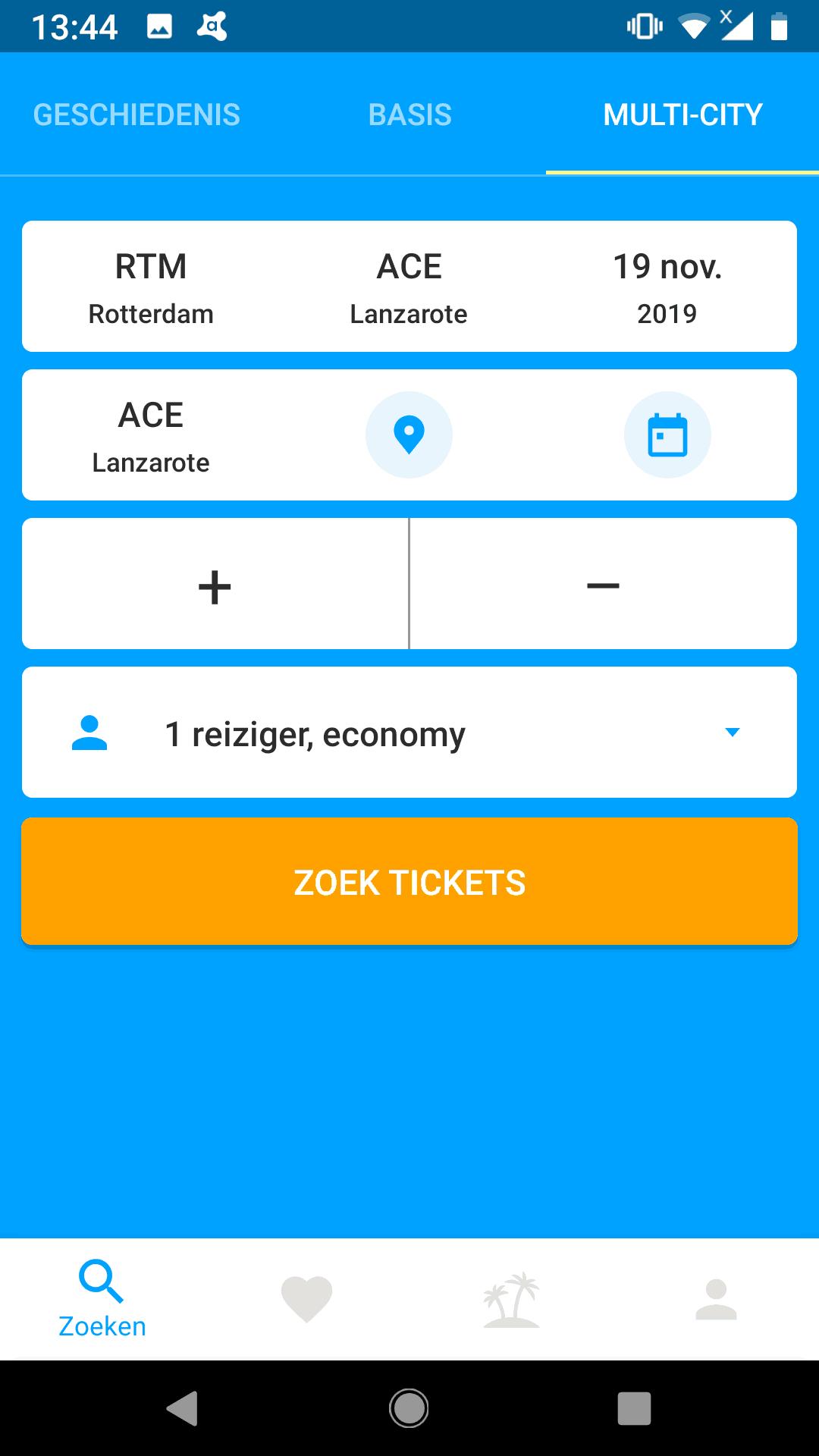 goedkope vliegtickets zoeken met ios android app